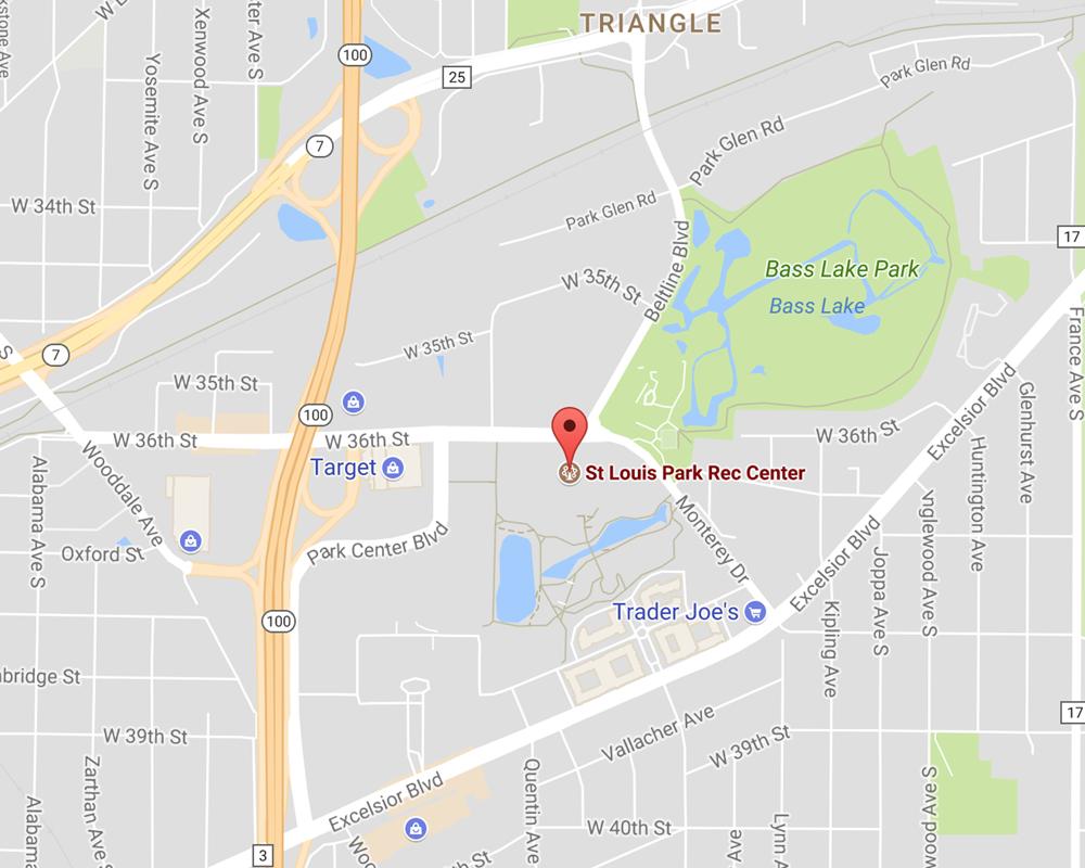 St Louis Park Rec Center Map